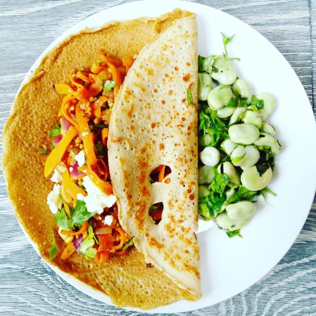 Riverford Organic Farms - Moroccan Crepe - Veggie LAD