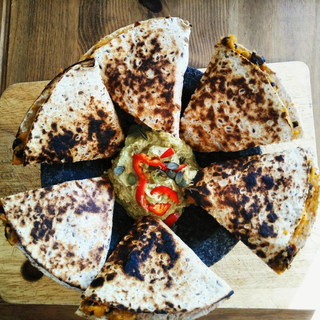Veggie LAD Sweet Potato and Black Bean Quesadillas