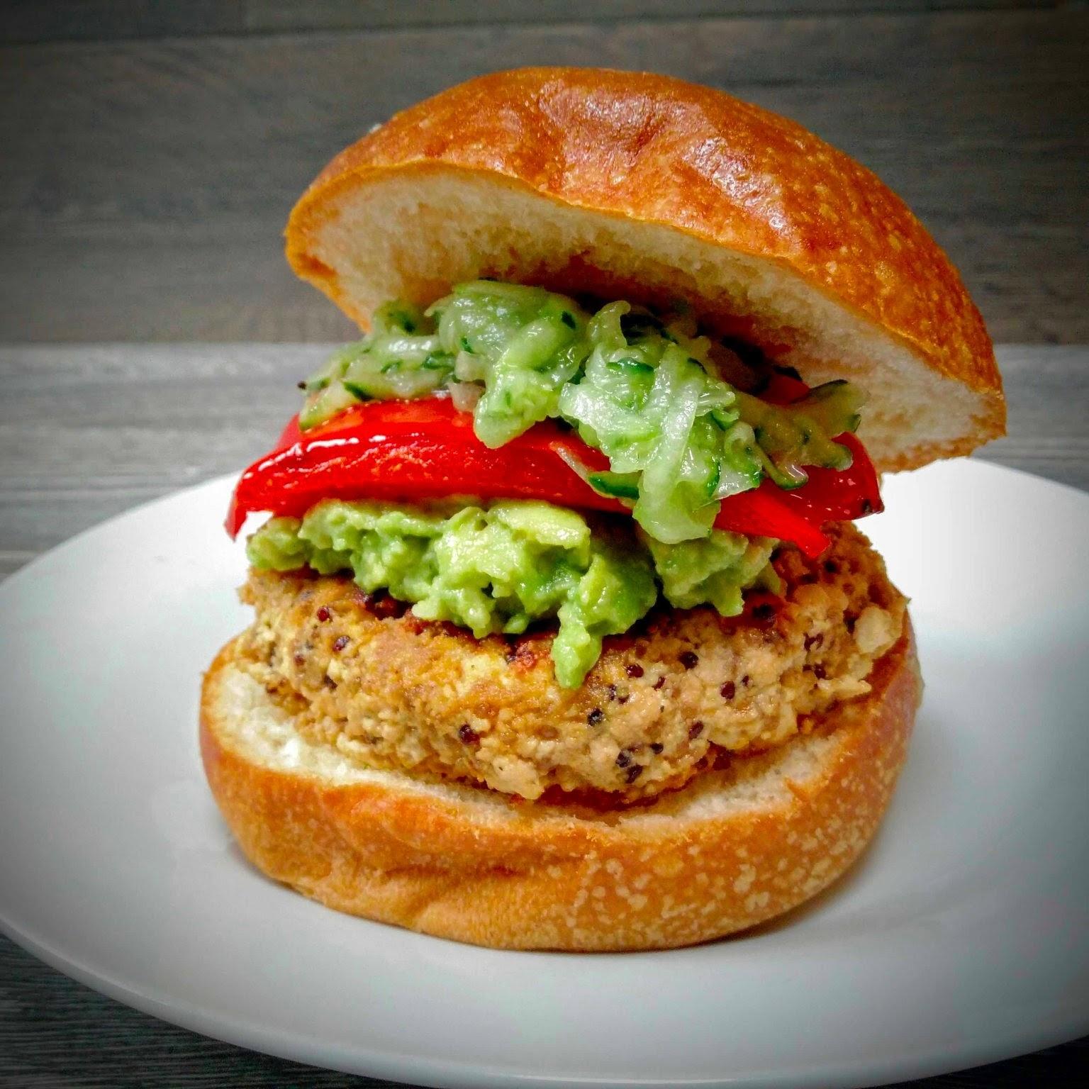 Tofu, Quinoa and Peanut Butter Veggie Burger Recipe (Vegan) - Veggie ...