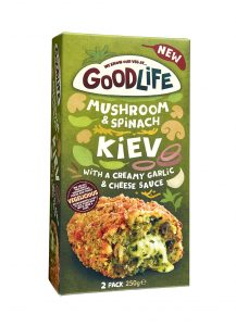 Goodlife Mushroom and Spinach Kiev Veggie LAD