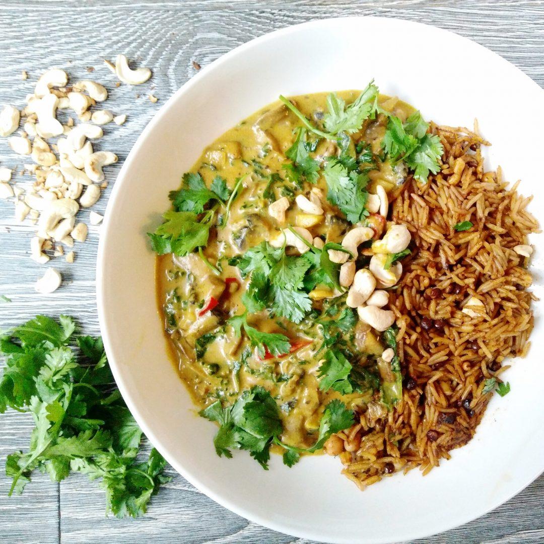 Indonesian Mushroom, Kale and Peanut Butter Curry Veggie LAD
