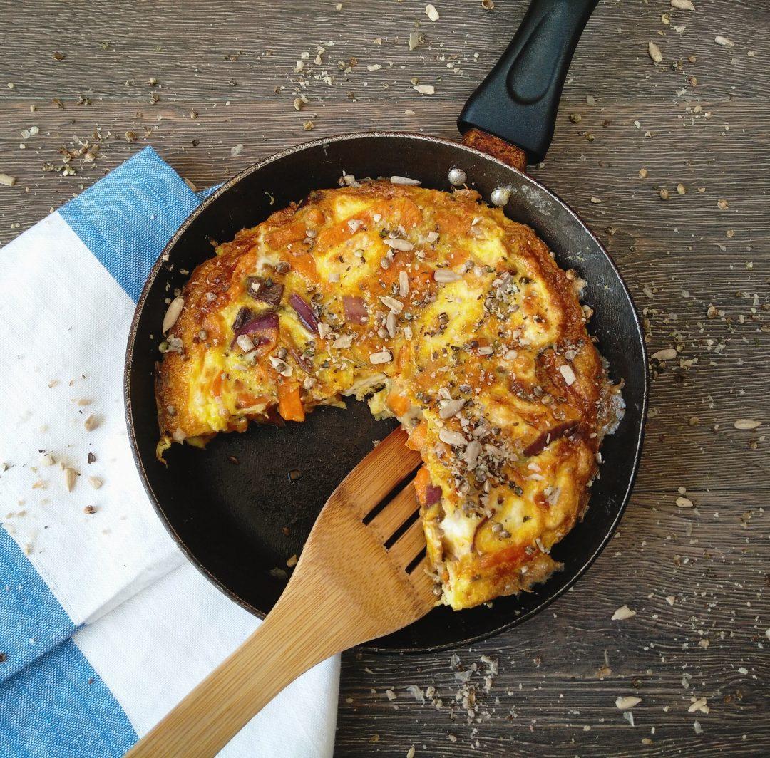 Sweet Potato and Red Onion Frittata Recipe